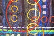 Art Quilts - Katie's on line course / Color , Composition and Design on line workshop.  Katie Pasquini Masopust www.katiepm.com facebook at katiepm