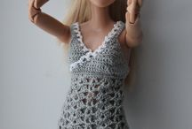 Crochet barbie doll