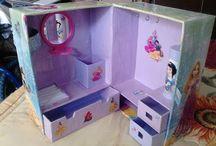 kartondan çocuk odası organizeri