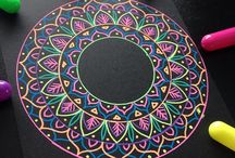 """Mandala Colorful /  """"Mandala art is the first stage to relax the soul"""""""