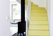 Cheminée escaliers