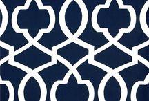 Trellis Fabric Blue