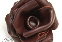 Leather flower making