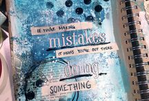 Art journaling - pages