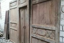 Javanese Primitive Wooden House Panels / These are the panels I collect from some parts of Northern Coast Java. Mostly teak, so old, so nice to match my projects need for my customers' villa, houses and resorts