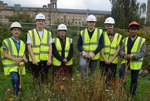 Groundbreaking news: The First Dig / Some of Shipley College's students who will benefit from the brand new building being constructed went down and grabbed their shovels to break in the ground.