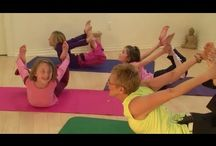 Yoga for Kids / Healthy children. Active lifestyle. Sports for children. Enjoy. Fit and healthy children.