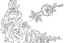 haft płaski- kwiaty / by Viola B