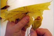 rose d'automne feuilles