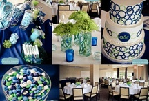 Blue and green wedding inspiration / prepared for Clients Lizzie & John in Santorini