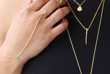Double layer necklaces & rings