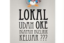 Poster Kampanye Cintai Produk Lokal / Poster design
