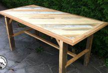 Projets en bois de palettes / Travail du bois, DIY, Bricolage en bois de récupération. Très souvent du bois de palettes.