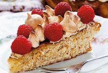 Kager / desserter med hindbær