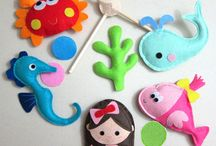 Mobiles and felt figures