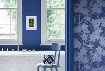 Little Greene - Blue Collection / 'Blue': a capsule collection of trend-setting paint shades and new coordinating 20th Century wallpapers from Little Greene.