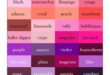Colorinspiration / Palette and shades of colours