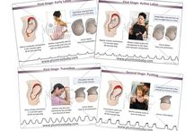 Childbirth and Breastfeeding Education Posters/Charts / Charts for Pregnancy, Childbirth, Breastfeeding and more!