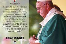 Papa Francisco / Pensamientos, frases, visitas y todo lo relacionado con el Papa Francisco.