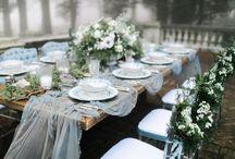 Esküvő - asztalok