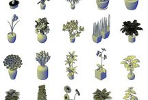 3D Potted plants CAD collection / Download this FULL Collection of over 20 3D POTTED PLANTS. These 3D CAD models can be used in your interior and exterior design 3D CAD drawings.
