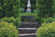 Gorgeous Gardens / Beautiful gardens featuring topiary, boxwoods, peonies, roses and hydrangea.