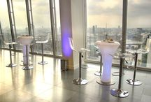 TEHC at The Shard / The Event Hire Company feature their furniture at the iconic  Shard in London