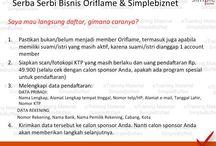 Serba Serbi Bisnis Oriflame  / Menjalankan bisnis Oriflame secara Online bersama SimpleBizNet