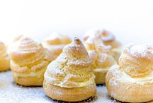 Cream croissant buns