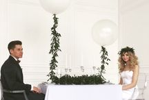 Modern greenery / Inspiration for wedding, minimalist modern greenery