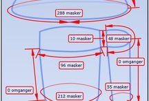 Strik - hækling - mønstre - vejledning / Vejledning vedr. strikke og hæklemønstre