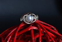 Abyss collection / Silver jewelry and fresh water pearl.