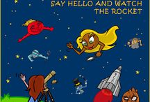 The Playful Planets Say Hello and Watch the Rocket
