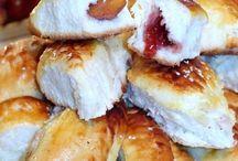рецепт пирога с персиками и джемом