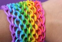 made from rubber bands / creations and instructions for knitting the rubber bands