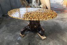 mesas de toco