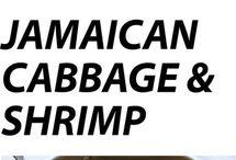 Jamaican cabbage & shrimp