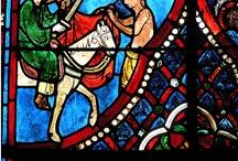 Saint Martin... en France / Saint Martin (316-397), surnommé l'apôtre des campagnes, fut le troisième évêque de Tours. De nombreux artistes l'ont représenté au cours des siècles, de multiples églises, chapelles, villes... portent son nom. En voici quelques représentations... non exhaustives !