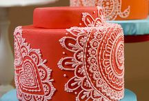 Indian cake decorated / Fine icing