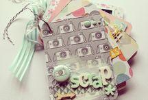 Mini album - Scrap / Mini album con tarjetas del project life con la coleccion de @dearlizzy