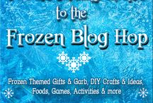 """Frozen Blog Hop / A great group of bloggers gotta together to have a fun """"Frozen themed blog hop. There are pins for gifts and garb, DIY crafts and ideas, foods, party favors, games, activities and so much more!"""
