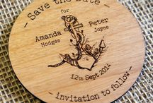 Wooden Wedding Save the Dates / Wedding Save the Dates