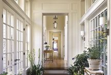 Architecture Details/Interior Design / Crown molding. Gorgeous paneling. High ceilings. Huge windows. Old doors. The wonderful details that make a house and home.  / by Erin McPherson