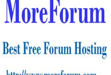 The best free message board services -- MoreForum.com / MoreForum — is a free, professional grade software package that allows you to set up your own online community within minutes. MoreForum is written in the popular language Java and uses a MySQL database.MoreForum is the next generation of forum software - and best of all it is and will always remain completely free!