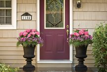 Front Doors / Feeling crafty? Give your front entrance a whole new look each year using a small can of paint and flowers to match. Even if you're a busy mom with little time to garden, decorating your front porch to create a beautiful first impression and boost curb appeal can be done as a simple weekend DIY home improvement project.  / by Proven Winners Plants