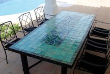 Mosaic tables / Our mosaic tables are decorated with our handmade and unique tiles.