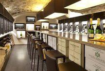 DILETTANTES / aménagement d'une cave à champagnes à Paris