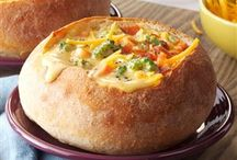 soups in bread bowls
