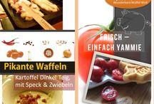 Pikante Waffeln / Anders geht auch -  Fleisch, Dinkel- Kartoffel - querbeet durch´s  Gemüsefeld - je knolliger desto olliger!