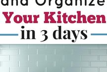 Organise kitchen.